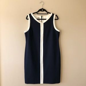 Talbots navy blue sleeveless dress